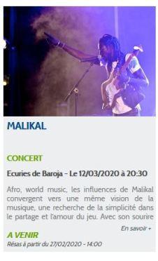 malika concert